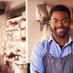 Business Insurance: Portrait Of Male Owner Standing In Gift Store