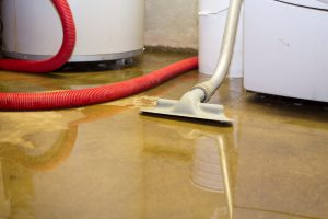 Flooded basement is protected with sewer backup coverage for home insurance